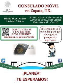 Consulado Mexicano Movil en Zapata | Zapata County